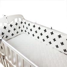 Скандинавские Детские бамперные простыни для кроватки для новорожденных, декор для детской комнаты, детская кроватка, Комплект постельного белья для малышей, защита лестницы