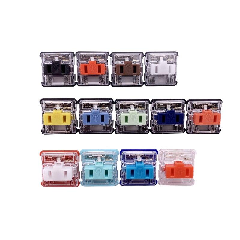 13 шт. Kailh низкопрофильные механические переключатели для клавиатуры серии набор переключателей для шоколада|Клавиатуры| | АлиЭкспресс