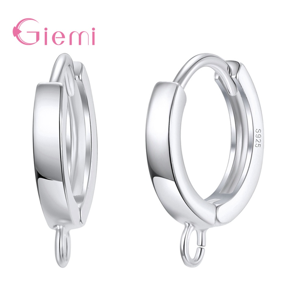 Earring Accessories 925 Sterling Silver Jewelry Finding Ear Hoop DIY Connector Dangle For Hoop Earring Jewelry Making