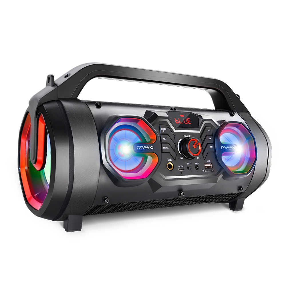 TOPROAD 30W Besar Bluetooth Speaker Portable Wireless Stereo Bass Subwoofer Speaker Mendukung Remote Control FM Radio AUX Lampu RGB