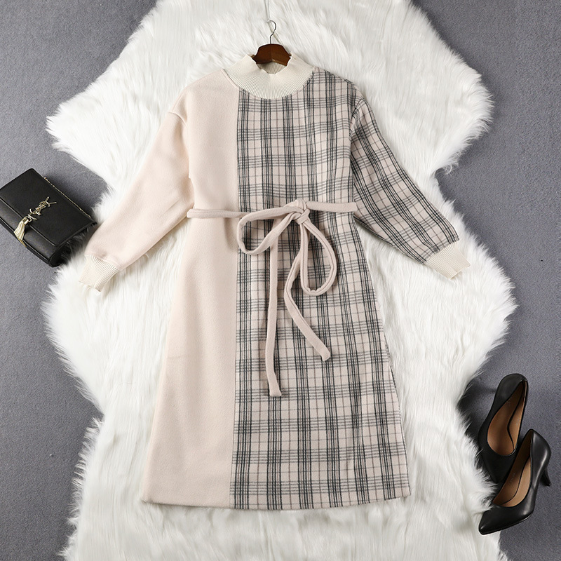 Chubby Size Loose-Fit Plus-sized WOMEN'S Dress 2019 Spring Clothing New Style 200 Catty Waist Hugging Tibetan Meat Dress Slimmin