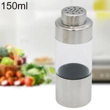 new 150ml Stainless Steel Visual Seasoning Pot Vinegar Sauce Dispenser Salt Spice Pepper Shaker Storage Container Jar Can Bottle