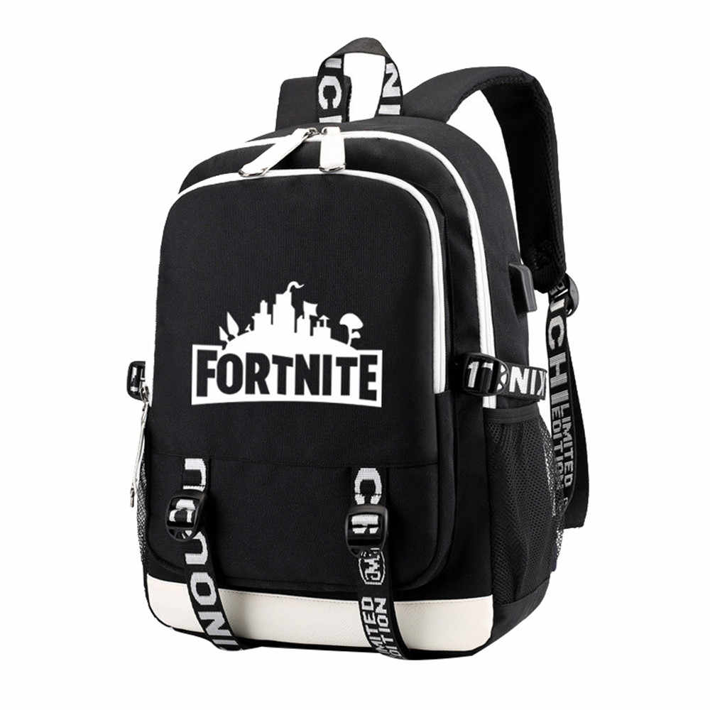 Men Letter Printed Laptop Backpack Female Nylon Travel Schoolbag Casual Rucksack Student School Bags for Teenage Girls BackPacks