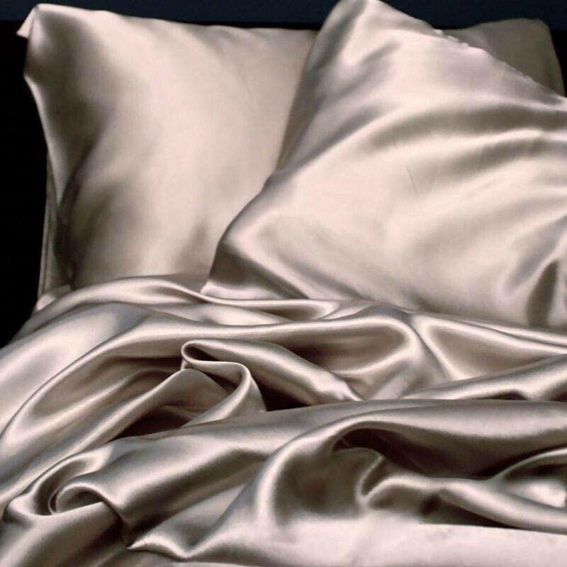 Luxury 2pc X Silk Pillowcase Top Quality Pillow Case Pillow Cover Silk Pillow Case 51cm X 76cm 3 Colors To Choose