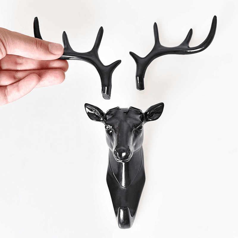 Ściany hak do zawieszania w stylu Vintage Deer głowy poroże do wieszania ubrań kapelusz szalik klucz jelenie rogi wieszak stojak dekoracje ścienne