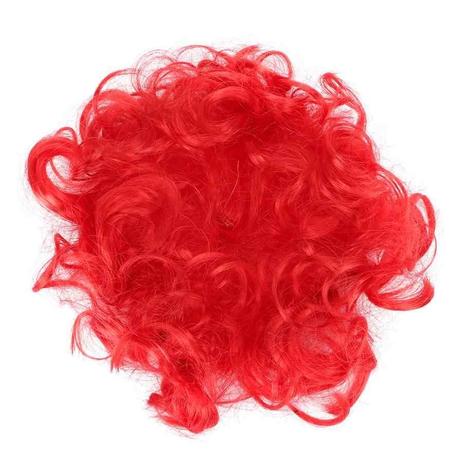 Красный черный цвет собака смешной парик волос Аксессуары одеваются игрушки для Хэллоуина вечерние события красный пушистый волос