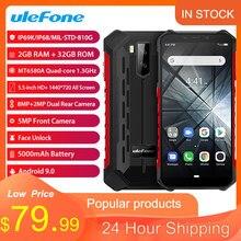 Ulefone armadura x3 ip68 áspero smartphone android 9.0 à prova de choque telefone superbattery celular 2 + 32g desbloqueado celular x3