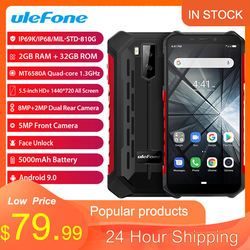 Ulefone Armor X3 ip68 Rugged Smartphone Android 9.0 Shockproof Telephone Superbattery Cell Phone 2+32G Unlocked Mobile Phone X3