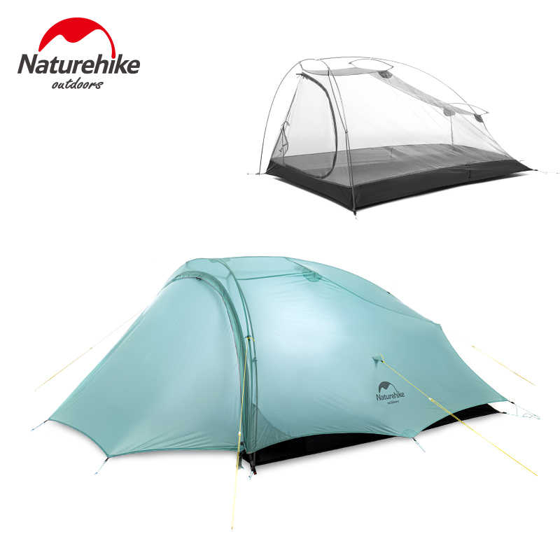 Naturehike Cirrus Backpacking Tent for 2 Person Ultralight Outdoor Travel Camping Grey