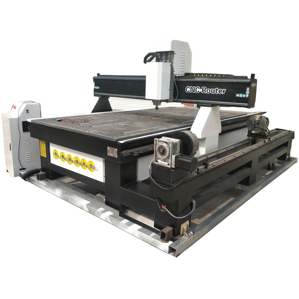 Cheap Price Rotary Wood 3d Cnc Router/ Multi Heads 1325 CNC Milling Machine 4 Axis Table Legs Engraving Cutting Machine