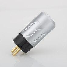 Viborg X Hifi Audio 1คู่ทองแดงบริสุทธิ์24Kทองชุบอลูมิเนียม20มม.EU Schukoรุ่นPowerปลั๊กสำหรับDIYสายไฟ