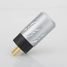 Viborg X Hifi audio 1 paire pur cuivre 24K plaqué or alliage daluminium 20MM EU schuko version prises dalimentation pour bricolage câble dalimentation