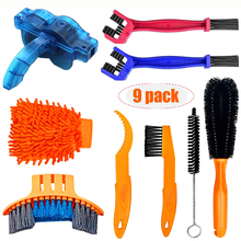 Scrubber-Brushes Bicycle-Chain-Cleaner Bike Mountain-Wash-Tool-Set