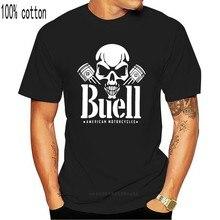 New Cool BUELL Americano Moto SKULL PISTONE Regalo di Stampa T-Shirt Hip Hop Tee T Shirt NUOVE magliette di ARRIVO causale