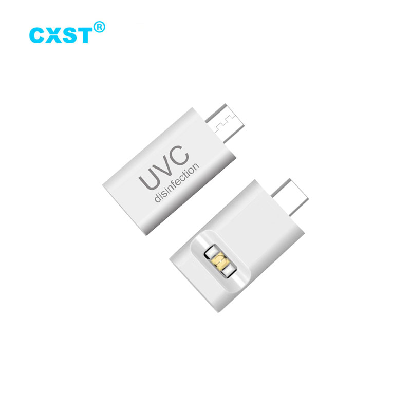 CXST Mini Portable UVC Disinfection Lamp UV Sterilizer Plug and Play for iPhone/Type-C Plug