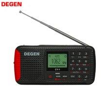 Degen CY 1 rádio fm/mw/sw dínamo, alarme solar, relógio de ondas curtas, rádio lcd/sos/bluetooth/mp3/gravador rádio portátil