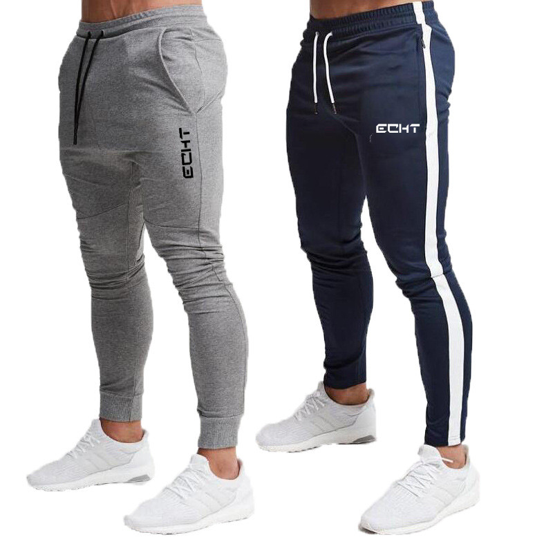 Gyms Sweatpants Joggers Skinny Pants Men Casual Trousers Male Fitness Workout Cotton Track Pants Autumn Winter Sportswear