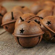 24 шт. рождественские Изделия Железные маленькие колокольчики 40 мм Звездные железные колокольчики детские игрушки-погремушки для самостоятельной сборки домашних животных Декор рождественской елки