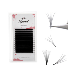 AGUUD Easy Fanning Eyelash Extensions Rapid Volume Fans Lashes Automatic Flowering Eyelash Extension Blooming Eyelashes недорого