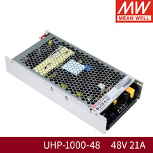 Mean Well UHP-1000-48 1000W 48V 21A Switching Power Supply 110 V/220 V AC Ke DC 48V1000W meanwell PFC Transformer UHP-1000 Series(China)
