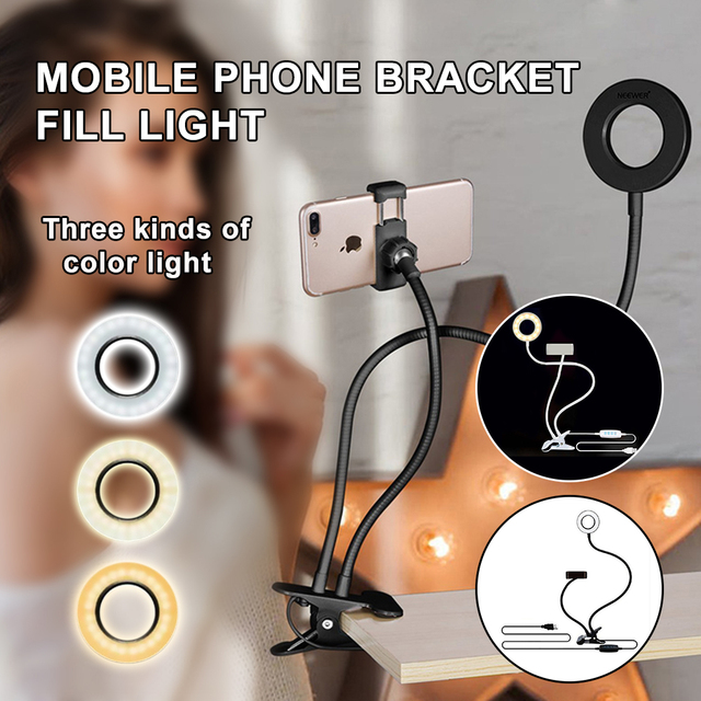 Professional Portable LED Light with Cell Phone Holder 1