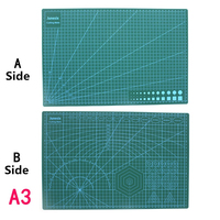 Cutting Mats A3 Grid Double sided Plate Design Engraving Model Mediated Knife Scale Cut Cardboard School Office Supply DIY Tool