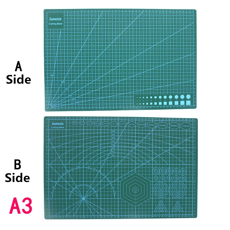 Cutting Mats A3 Grid Double-sided Plate Design Engraving Model Mediated Knife Scale Cut Cardboard School Office Supply DIY Tool