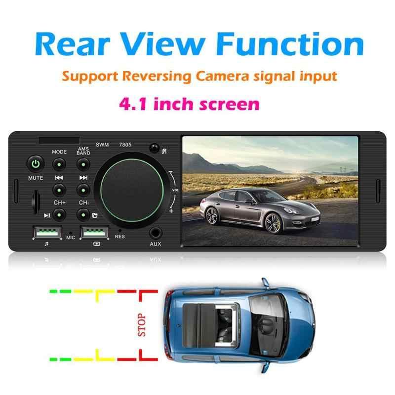 SWM 7805 Singolo DIN Car Stereo da 4.1 pollici TFT Touch Screen In Dash Bluetooth FM Radio Dual USB RCA Testa unità Digitale Ricevitore Multimediale