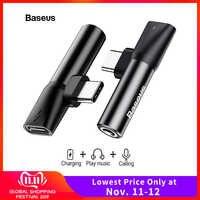 Baseus rodzaj usb C do 3.5mm Adapter gniazda jack dla Xiao mi mi 9 8 Huawei Mate 30 P30 pro typ-C OTG USB-C USBC Audio splitter Adapter