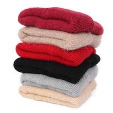 Winter Women Slouchy Beanie Hats Sleeve Cuffed Fleece Cap Keep Warm Outdoor Sports Bonnet New Comfort Solid Color Wool