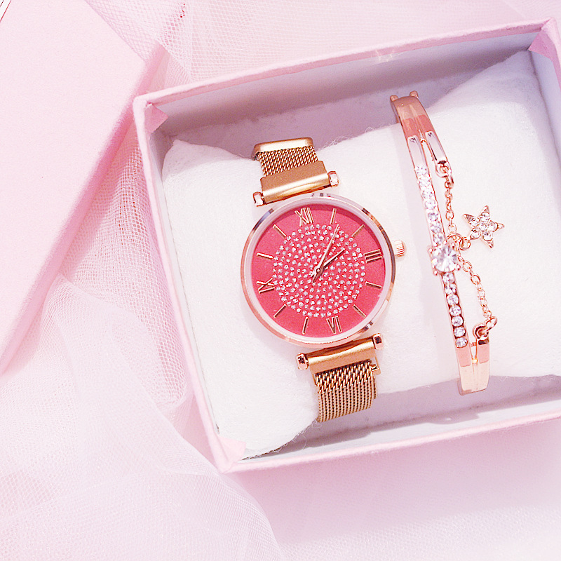 Girls Watch Fashion Wristwatch For Ladies Waterproof  Simple Female Watch Stars Crystal Schoolgir Rosegold Clock For Girl Montre