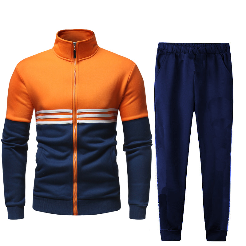 Men Full Outdoor Gym TrackSuit Sport Jacket Coat Bottom Top Suit Trousers Pants Track Suit Outfit Outwear 2PC