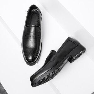 Image 4 - الرجال فستان أحذية البروغ نمط باتي الجلود أحذية الزفاف الرجال الجلود أوكسفورد الأحذية الرسمية
