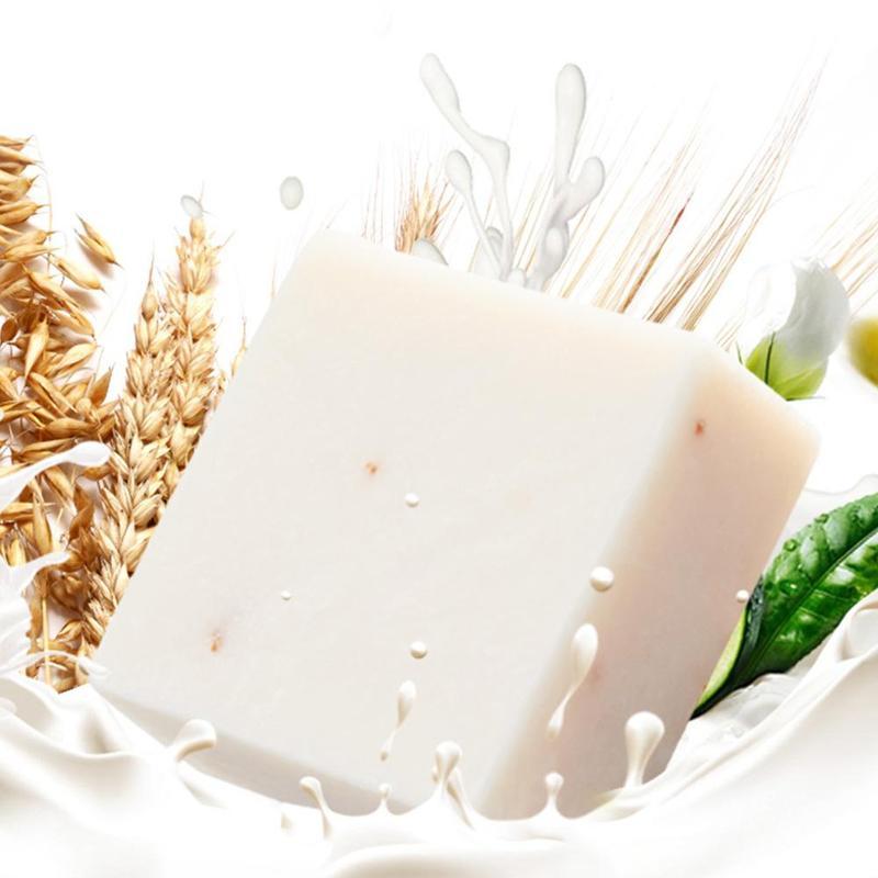 Thailand Handmade Soap Bleaching Agents Acne Soap Jasmine Rice Collagen Vitamin Skin Rice Milk Soap Whitening Bathing Tool New