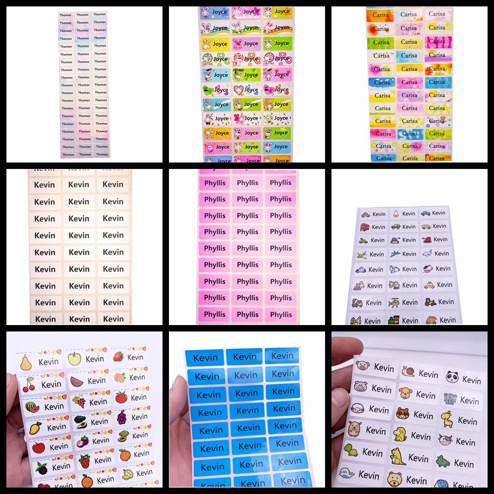30PCS 30*13mm Colorful Customizable Name Stickers Waterproof Anti-tear Scrapbooking Accessories Labels Vintage BLANK  Stickers