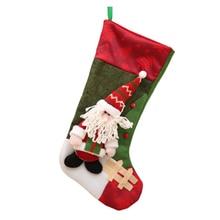 18inch Christmas Gift Stocking Mini Sock Santa Claus Candy Bag Chrismas Tree Hanging Decor Stockings