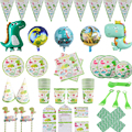 Динозавр, товары для вечерние Ринок, набор одноразовой посуды, динозавр, бумажная тарелка, чашка, скатерть для будущей матери, день рождения,...