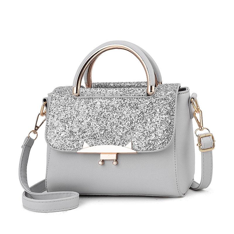 Casual Women's Handbags Top-handle Sequin Zipper Female Totes Temperament Messenger Shoulder Bags Fashion Crossbody Bags Wild