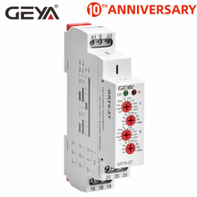 Free Shipping GEYA GRT8-2T Double Delay on Timer Relay AC230V OR AC/DC12V-240V DPDT Relay Din Rail Type Time Delay Relay free shipping geya grt8 m din rail multifunction timer relay ac230v or ac dc12 240v with10 adjustable delay functions