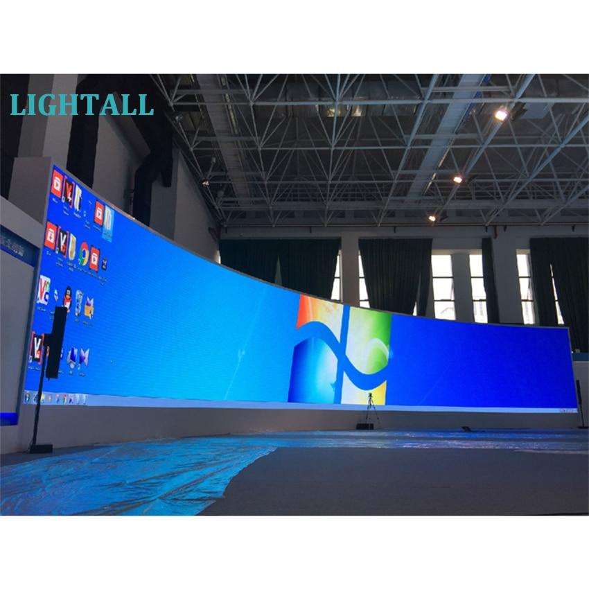 Полноцветный изогнутый СВЕТОДИОДНЫЙ экран, алюминиевый шкаф P3.9 для помещений, 500x1000 мм, гибкий светодиодный знак P2.6 P3.9 P4.8 P2.9, светодиодный дисплей