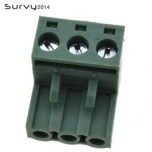 цена на 10PCS 5.08 2 3 4 6-pin right angle terminal plug type 300V 10A 5.08mm pitch connector PCB screw terminal block electronics