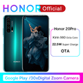 HONOR 20 Pro Google Play Smartphone 6.26''8GB 128GB Kirin 980 Octa Core GPU Turbo3.0 32MP Camera Android 9.0 4000mAh 2340X1080