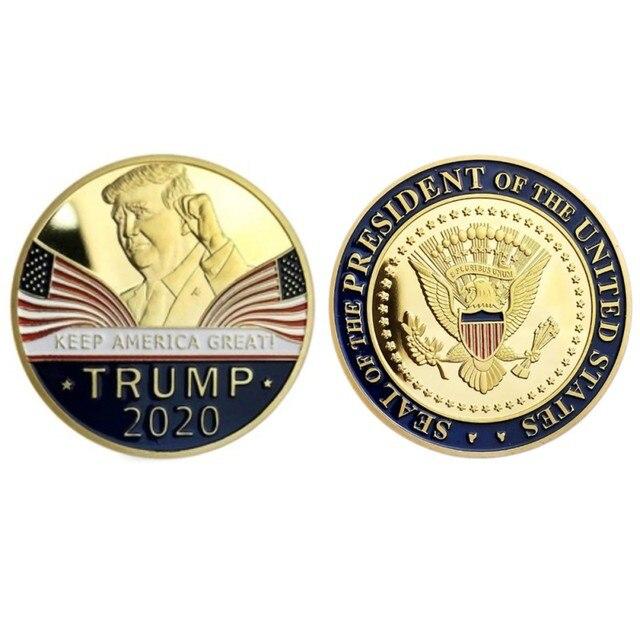 Gold Challenge Coin Commemorative America 45th President - 1pc  4