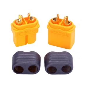 Image 2 - 100Pairs Amass XT60H Plug Male and Female 3.5mm golden Plated Bullet Connectors with Lock Protective Sleeve for RC  Lipo Battery