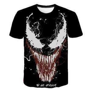 3D T-Shirt Short-Sleeve Hip-Hop-Top Venom Quick-Drying Round-Neck Printing Men's Casual