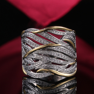 Image 2 - Huitan Unique Shape Women Ring Bridal Wedding Ceremony Rings High Quality Special interest Versatile Accessories Trendy Rings