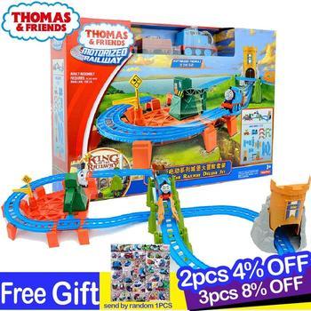 Original Thomas and Friends Castle Adventure Electric Train Track Set Motorized Railway Educational Car Toys for Boys Oyuncak эксклюзиные паровозики в асст thomas and friends