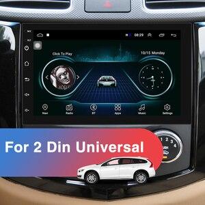 Podofo 2 Din Android автомобильное радио GPS Bluetooth аудио стерео WIFI USB FM 2Din авто радио для VW Nissan Hyundai toyota CR-V KIA