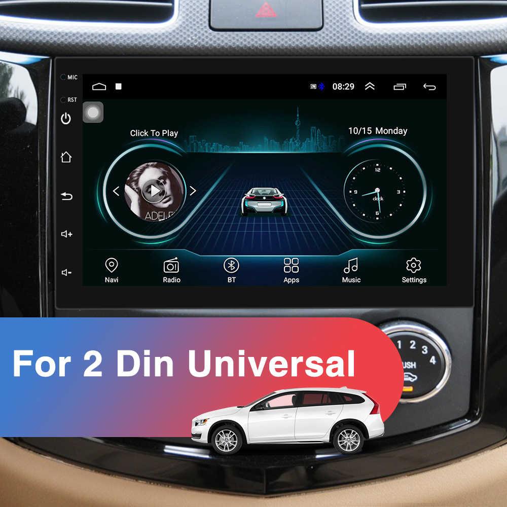 Podofo 2 Din Android araba radyo GPS Bluetooth ses Stereo WIFI USB FM 2Din otomatik Autoradio VW Nissan Hyundai toyota CR-V KIA