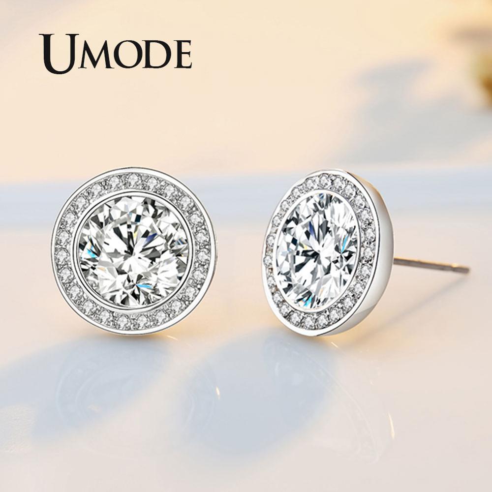UMODE Simple Girls Kids Cute Zirconia  Stud Earrings Ear Studs Gifts for Women Jewellery bijoux enfant boucle d oreille UE0454